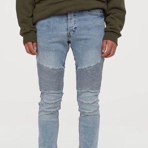 H&M Skinny Biker Jeans Size 30